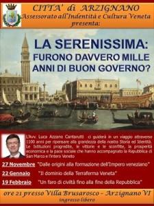 Grazie al nostro assessore all'Identità Veneta Samuel Guiotto si terranno queste interessantissime confernze nella città di Arzignano VI
